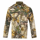 Men's hunting  RealTree  green Camouflage T-Shirt Forrest Print Long & Short top