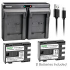 Kastar Battery Slim Dual Charger for Canon NB-2L CB-2LW & Optura 400 Optura 500