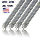 T8 T10 T12 LED Light Tube 4FT Dual-End Powered Ballast Bypass 6000K Clear Cover