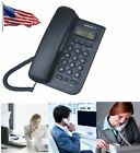 wall mounted corded phones - Black/white Wall Mount Corded Phone LCD Telephone Home Office Desktop Caller ID
