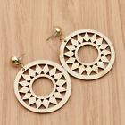 100 More Choices Women Round African Hollow Wood Earrings Hook Studs Piercing