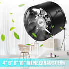 4'' 6'' 8'' 10''HYDROPONIC INLINE DUCT BOOSTER EXHAUST FAN VENTILATION EXTRACTOR