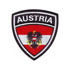 AUSTRIA FLAG CREST EMBROIDERED PATCH