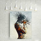Modern Abstract Burning Beauty Canvas Wall Art Poster Painting Home Decor Gift B
