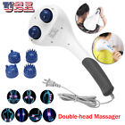 Massager Full Body Handheld Electric Vibrating Double Head Neck Back Relax Body