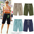 Womens Ladies Comfy Linen Summer Casual Knee Length Cargo Shorts Holiday Pants