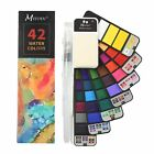 Watercolor Paint Set &Water Brush for Field Sketch Outdoor Painting 42 Colors