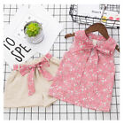 lovely and cute baby - Baby Girls Floral Vest and Shorts Lovely Cute Summer Clothes Set