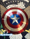 Captain America Shield 1:1 Full Aluminum Metal Shield Cosplay Props+Wood Display