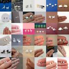 Cute Mini Small Bat Ghost Snake Stud Earring Ear Piercing Xmas Earring Jewelry