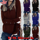 Womens Long Sleeve Ladies Pullover Warm Sweater Casual Thermal Blouse Tops Size