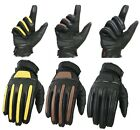 EVO All Weather Pure Leather Motorbike Gloves motorcycle Bike Working Wheelchair