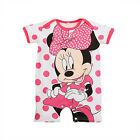 Disney Baby Boy Girl Bodysuits Jumpsuit Minnie Grows Rompers Clothes 3-24 Months