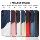 Cute Wave Design Soft TPU PC Combo Shell Case Cover for iPhone X 8 7 6 6s plus