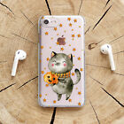 Halloween iPhone X XS XR Clear Case Cat iPhone XS Max Cover Cute iPhone 7 8 Plus