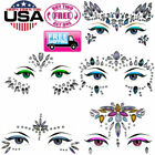 Face Body Gems Rhinestone Jewels Adhesive Festival Party Glitter