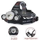 22000 LM T6 +XPE 3 LED Zoom Headlamp Waterproof 18650 Battery Camping Light AE