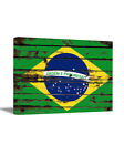 Brazil Flag Wall Art Brazil Canvas Wall Decor Patriotic Wall