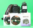 Canon EOS 550D DSLR Camera, Battery, Charger, Manual, Software, Strap & Box