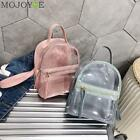 Transparent Mini Female Backpack Clear PVC in Assorted Colors