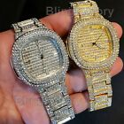 Men's Iced out Luxury Rapper's Lab Diamond Metal Band Dress Clubbing wrist Watch image
