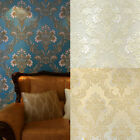 10m Luxury Wall Paper Rolls 3d Victorian Non-woven Embossed Vivid Wallpaper