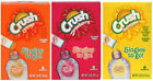 Crush Flavored SINGLES TO GO! Orange, Strawberry, Pineapple