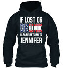 If Lost Or Drunk Please Return To Jennif Standard College Hoodie