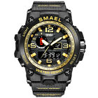 SMAEL Dual Display Watch Mens Sports Military Army Digital Waterproof Wristwatch image