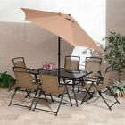 Suntime Outdoor Living Memphis Steel 8 Piece Patio Dining Set with Umbrella