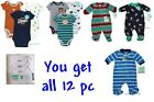 Внешний вид - Huge LOT Preemie Bodysuit Fleece Sleep Play Boys Sleeper Outfit Creeper Romper