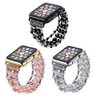 luxury Pearl Beads Bracelet Watch Band Strap For 42mm 38mm iWatch Series 1 2 3