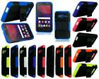 For Alcatel U3 3G 4049X New Shock Proof Stand Phone Case Cover + Tempered Glass