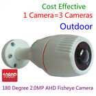 2.0MP 1080P 180 degree Wide Angle AHD CAM CCTV Outdoor Security Camera wholesale