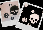 AWESOME! Black White Skull Stretch Knit Quality Fabric By The Yard ~ 2 colors