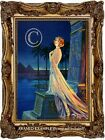 ART DECO Redhead WOMAN EGYPTIAN PYRAMIDS Lingerie Antique Repro ART PRINT Clive