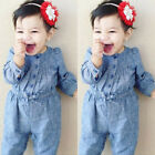Внешний вид - Newborn Baby Girl Long Sleeve Romper Bodysuit Jumpsuit Outfits Sunsuit Clothes