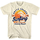 Jaws Amity Island Surfing Summer Resort 1975 Men's T Shirt Shark New England Top