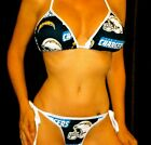 NEW SAN DIEGO CHARGERS Scrunchy Bikini XS-XL IN STOCK OR MADE TO ORDER FOR YOU $39.99 USD on eBay