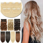50cm in inch - New Real Natural 3pcs/set Full Head Clip in Hair Extensions Smooth Hairpieces US