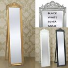 Free Standing Full Length Dressing Mirror Antique Baroque Floor Cheval Mirror