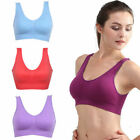 US Womens Yoga Sports Running Bra Crop Top Vest Stretch Bras Shaper Padded Sexy
