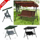3 Seater Garden Swing Chair With Canopy Patio Swinging Bench Outdoor Seat Swings
