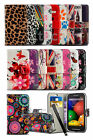 Alcatel One Touch Pixi 3 (4.5) 4027 - Printed Pattern Design Wallet Case & Pen