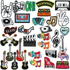Music Movie Note Rock Elvis Love The Beatles Recorder Piano Patches Embroidery
