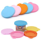 Pet Food Can Lid Covers Universal BPA Free Silicone Can Tops Cover For Dog Cat