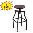1/2/3 Set Height Adjustable Industrial Swivel Metal Counter Height Bar Stool