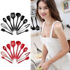 10Pcs Silicone Heat Resistant Kitchen Cooking Utensils Non-Stick Baking Tool US