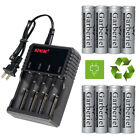 Lot 4000mAh 3.7V 18650 Rechargeable Li-ion Flat Top Battery For Vape w/ Charger