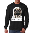 Pug Life Thug Life Puppy Dog Hoodie Gangster Animal Lovers Long Sleeve T-Shirt